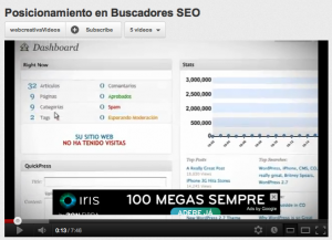Publicidad de Google en videos de Youtube